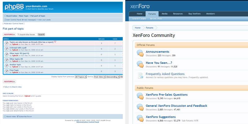 Примеры форумов