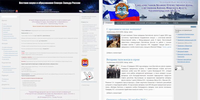 Примеры интернет-портала